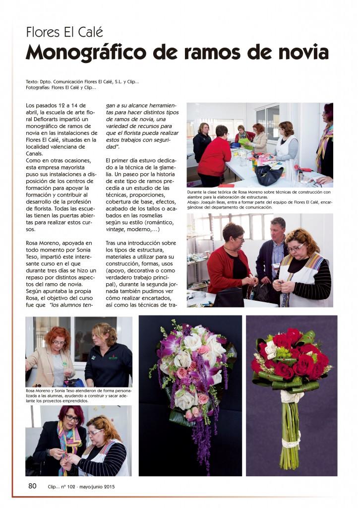 revista Clip... flores y más nº102 pág. 80. B&E Autoedición, SL