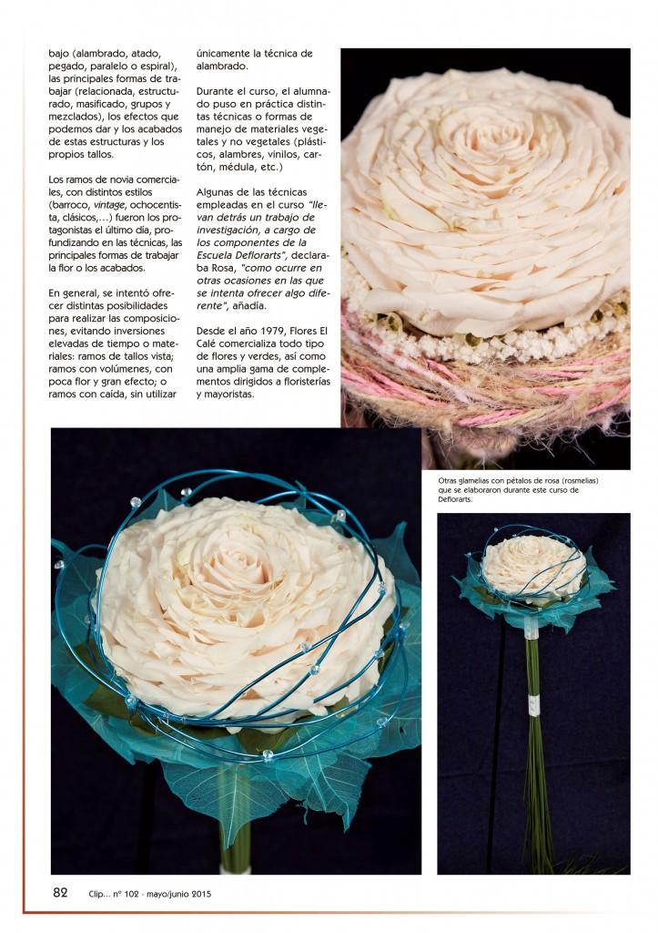 revista Clip... flores y más nº102 pág. 82. B&E Autoedición, SL