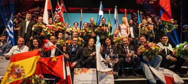 Copa Mundial Fleurop-Interflora'15. Ganador: Alex Choi, Corea del Sur