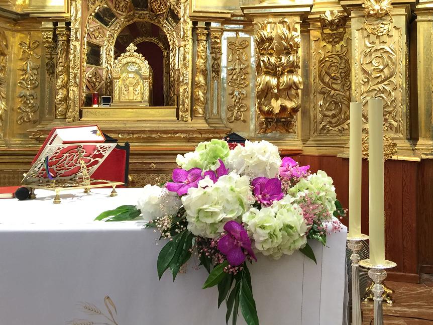 Centro Para La Mesa Del Altar Con Hortensias Blog Del