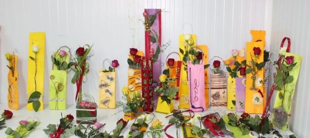 Presentaciones de rosa para San Valentín