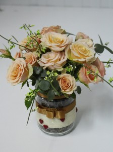Detalle con rosas ramificadas