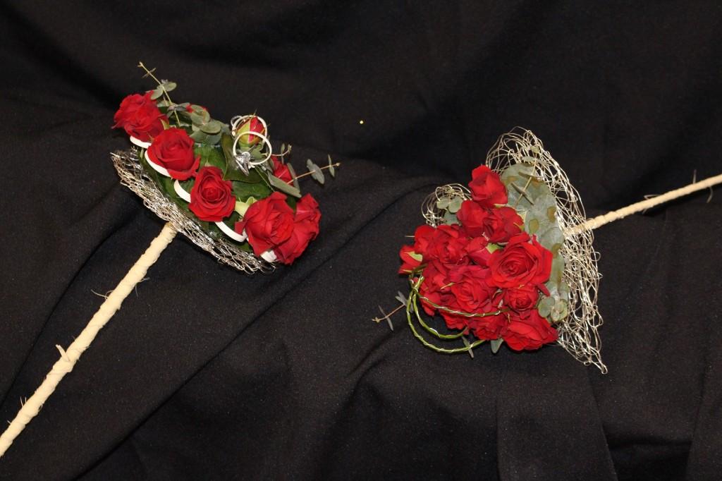 Ramos para los anillos y dama de honor