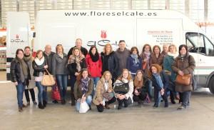 Miembros de la Asociación, a su llegada a Flores El Calé