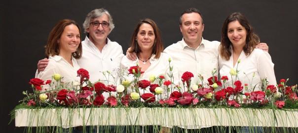 Chelo Benavent, Juan Chamorro, Mª Carmen Barreña, Juan Bautista Revert y Lidia Ruiz