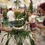 Trabajando Fuente Floral en Formaciones