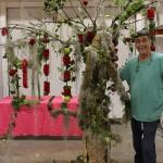 Kike León, con la decoración Sensación Bosque