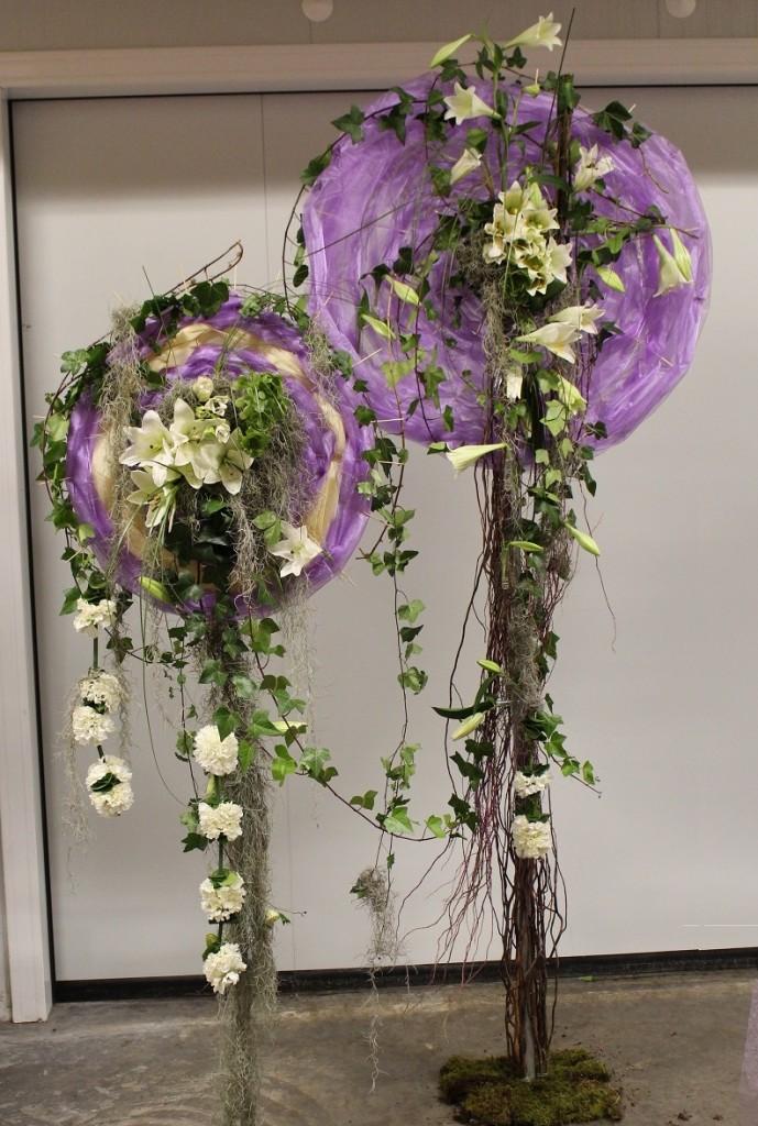 Pamelas florales, decoración
