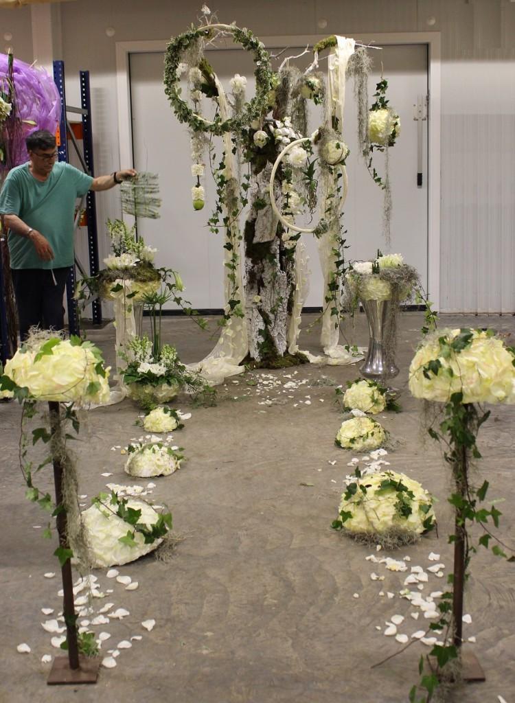 Decoración Árbol Blanco, con bolas y anillos