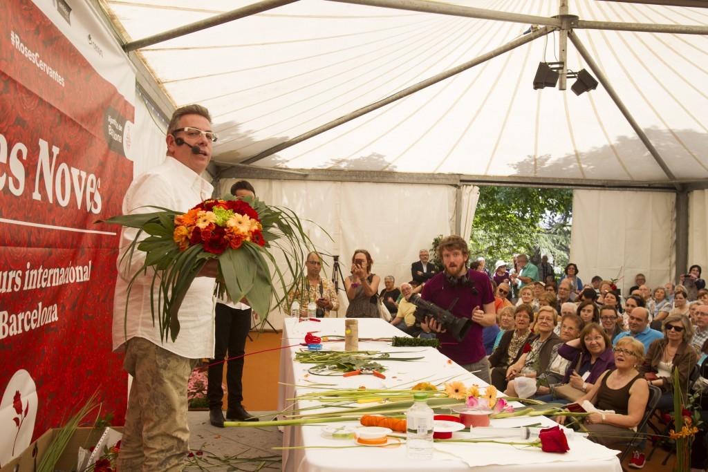 Demostración de Jordi Abelló, Escola d'Art Floral de Catalunya
