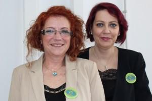 Rosa Moreno y Sonia Teso, de Deflorarts. Curso en Flores El Calé